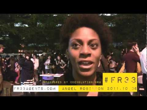 Angel Robinson at #OccupyWallSt