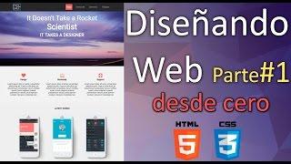 diseñando un sitio web - Html5 - Css3 | Servicio |  parte#1 | Desde cero