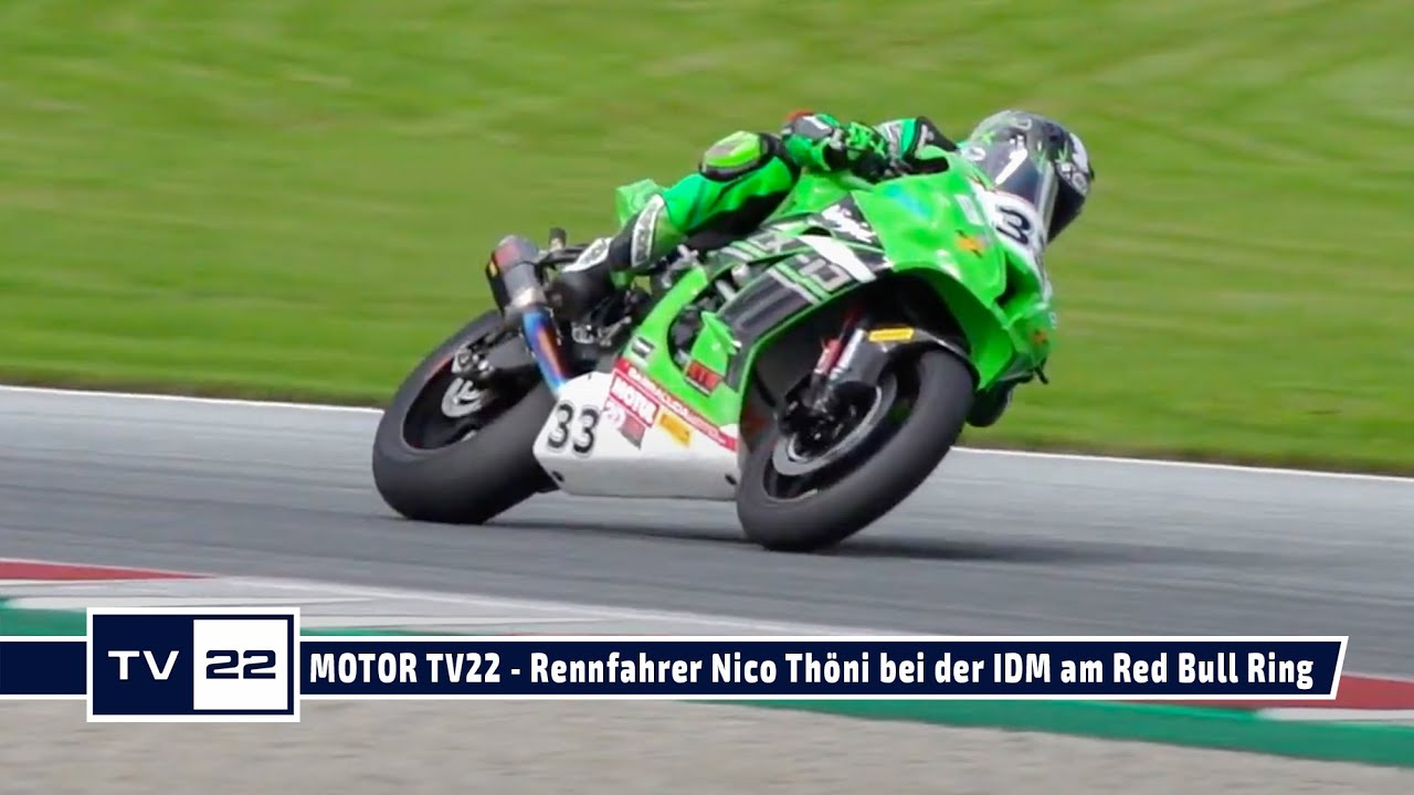 MOTOR TV22: Motorrad Rennfahrer Nico Thöni beim Heimrennen auf dem Red Bull Ring