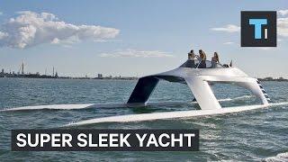 Super sleek yacht