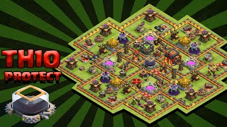 Clash of Clans - Town Hall 10 (TH10) Farming / DE Protection Base - 275 Walls