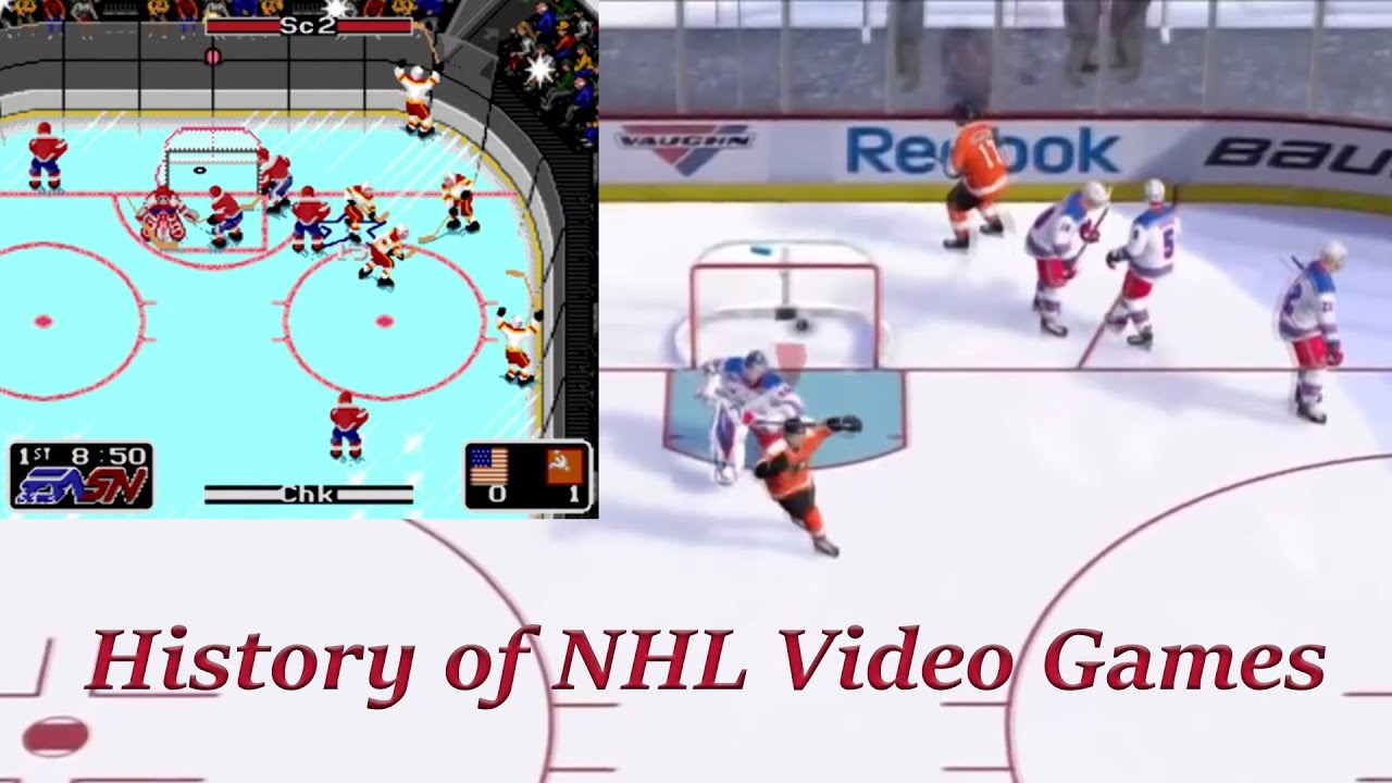 History Of Nhl Video Game Series From Nhl Hockey To Nhl 16