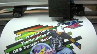 Contour Cutting TheMagicTouch OBM transfer media using a Graphtec CE5000 Cutting Plotter
