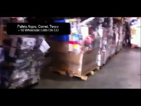 Pallets Argos, Comet, Tesco - 10 Wholesale Lists On CD