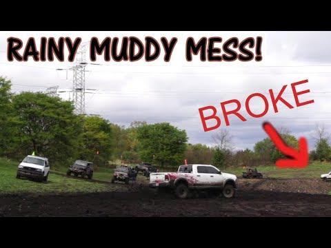 LIFTED TRUCKS RIPPING THROUGH MUD HARD!!! (Broken Parts)