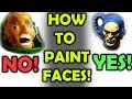 HOW TO PAINT FACES! - FAST AND EASY!