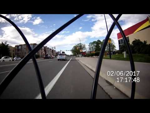 Driver cuts me off on bike