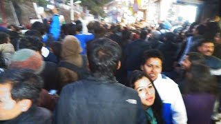 Huge crowd gathers at Mall Road Shimla for Bollywood film star Hritik Roshan