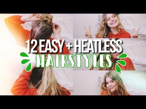 12 EASY + HEATLESS HAIRSTYLES FOR SCHOOL 2017!
