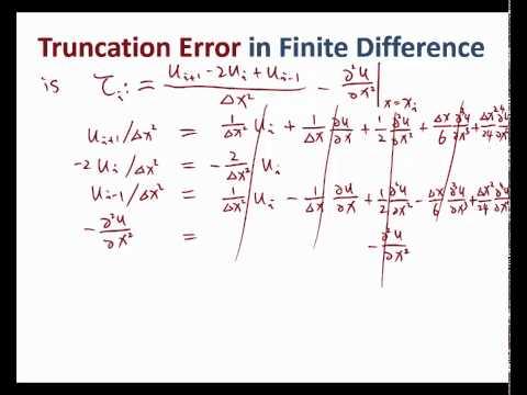 MIT Numerical Methods for PDE Lecture 2: Truncation Error Part I