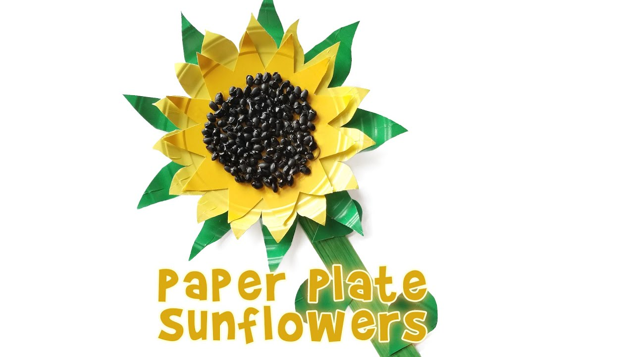 Cute Paper Plate Sunflower Kids Craft