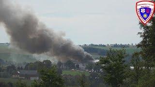 Großbrand bei Müllfirma in Reichenbach (Vogtland) 10.09.2018