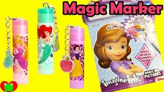 Disney Princess Sofia the First Imagine Ink Magic Coloring Book with Lip Balm Surprises
