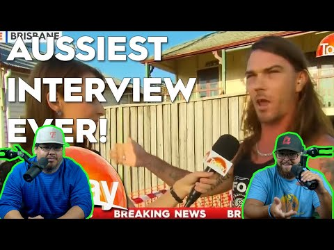 Americans React to The Aussiest Interview Ever !!!   Australia Interview