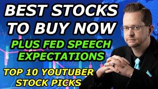 BEST STOCKS TO BUY NOW + FED SPEECH EXPECTATIONS - Top 10 YouTuber Stock Picks for Wednesday, Jun 16