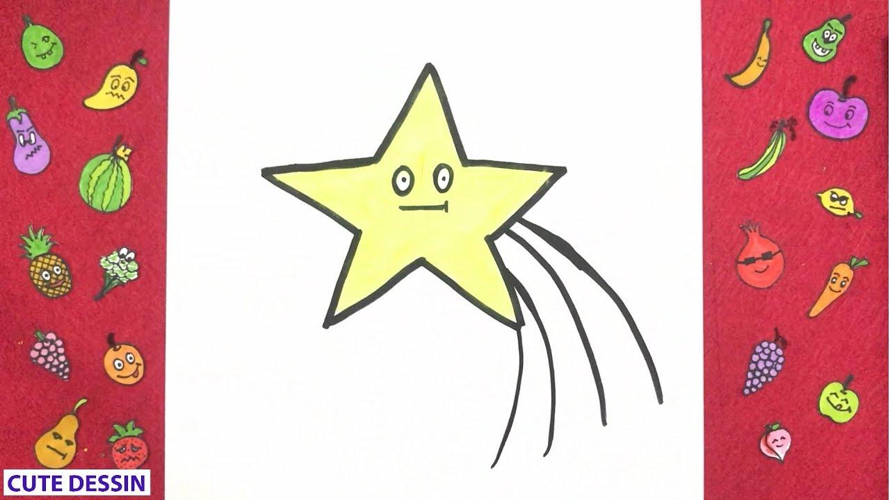 Comment Dessiner Et Colorier Une étoile Mignon Facilement étape Par étape 2 Dessin étoile