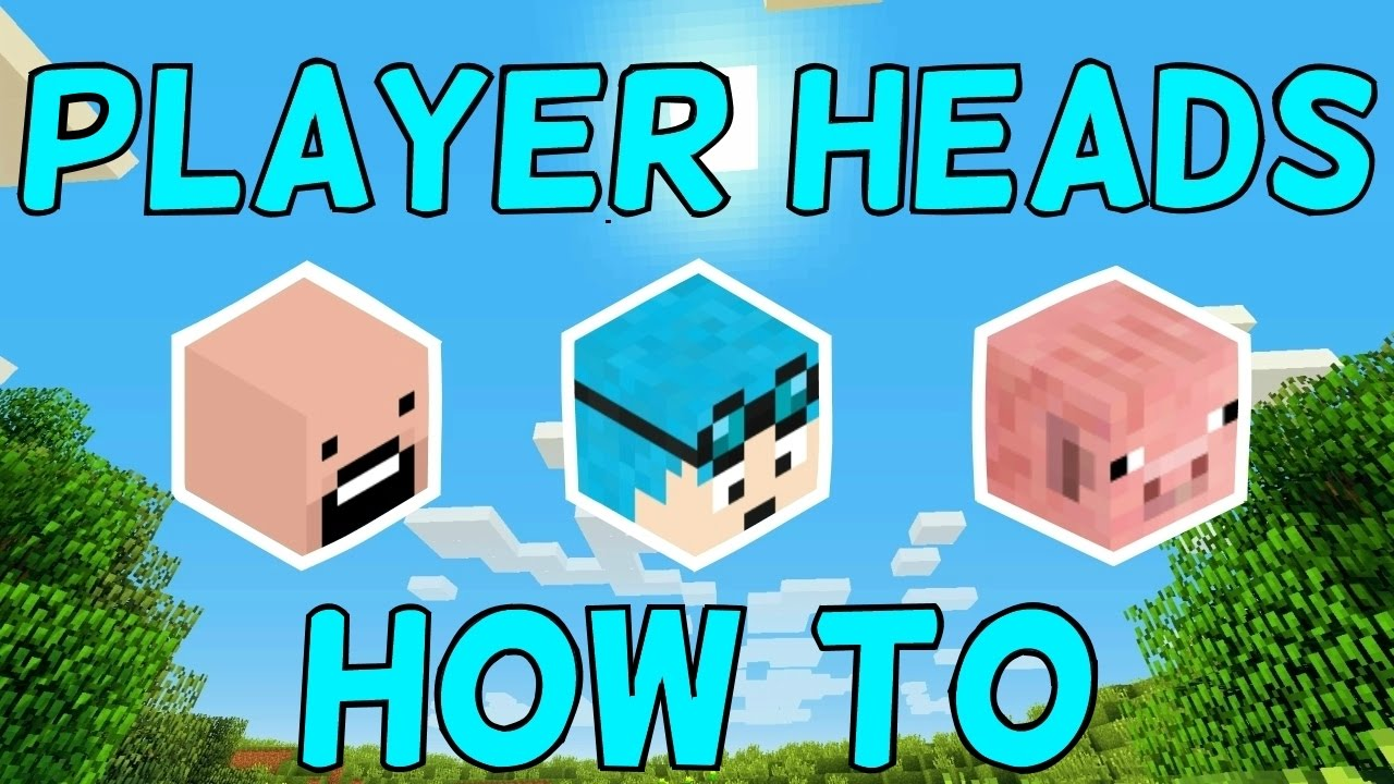 How To Get Minecraft Player Heads! 1 11 2+ (1 Command)