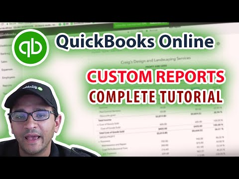 QuickBooks Online 2018 Tutorial: Reports (Creating and Customizing Financial Statements)