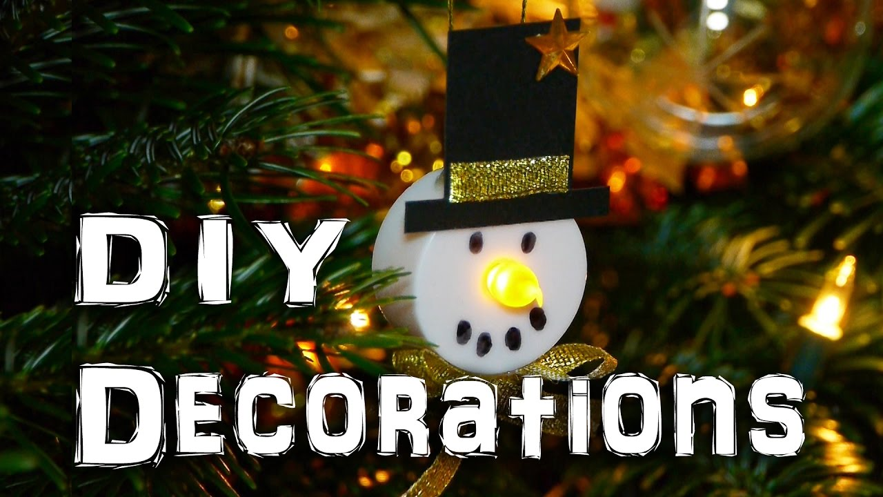 diy snowman decorations christmas holidays craft idea youtube
