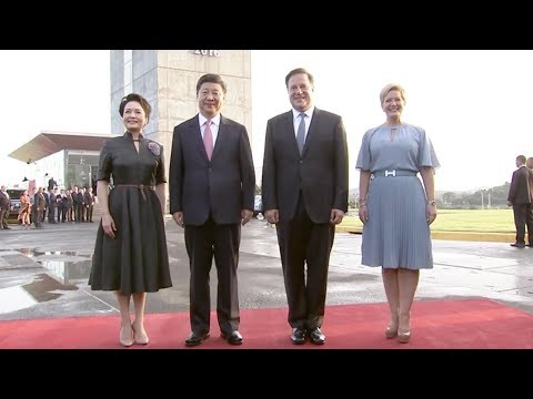 Chinese and Panamanian presidents visit Panama Canal's new locks