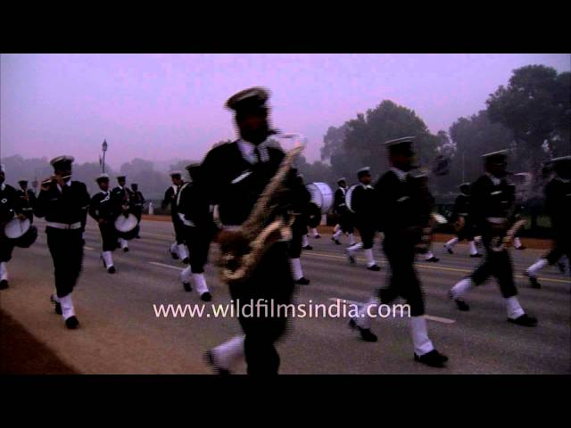 Indian Navy contingent marching on Rajpath Travel Video
