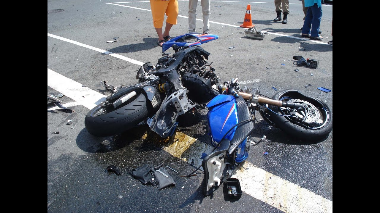 motorcycle crash horrible compilation