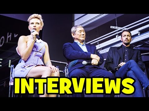GHOST IN THE SHELL Cast Interview - Scarlett Johansson, Takeshi Kitano & Rupert Sanders
