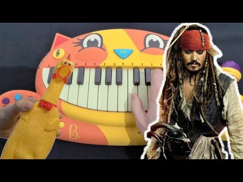 HE'S A PIRATE BUT IT'S ON A CAT PIANO, A CHICKEN AND A DRUM CALCULATOR