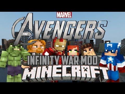 TODOS LOS HEROES AVENGERS INFINITY WAR en MINECRAFT   Heroes Expansion Mod Minecraft 1.12.2