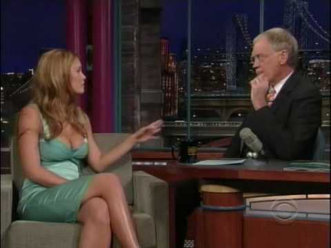 Bar Refaeli and Southwest Airlines SI One on Letterman