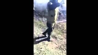 Война видео Украина   2015  Жёсткое лупилово из гранатомёта