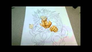 How To Draw Goku SSJ5 Dragonball AF