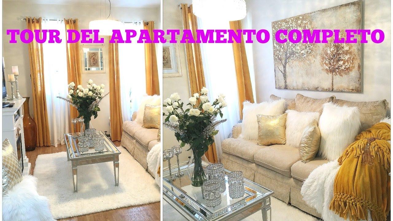 Apartamento tour decoracion glam elegante youtube for Decoracion apto