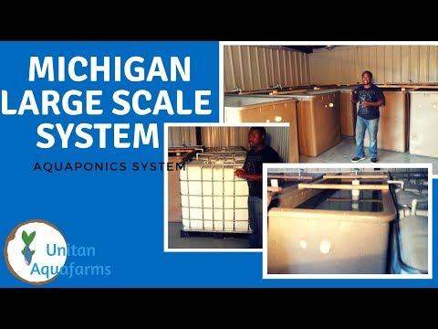 Large Scale Aquaponics System in Detroit Michigan