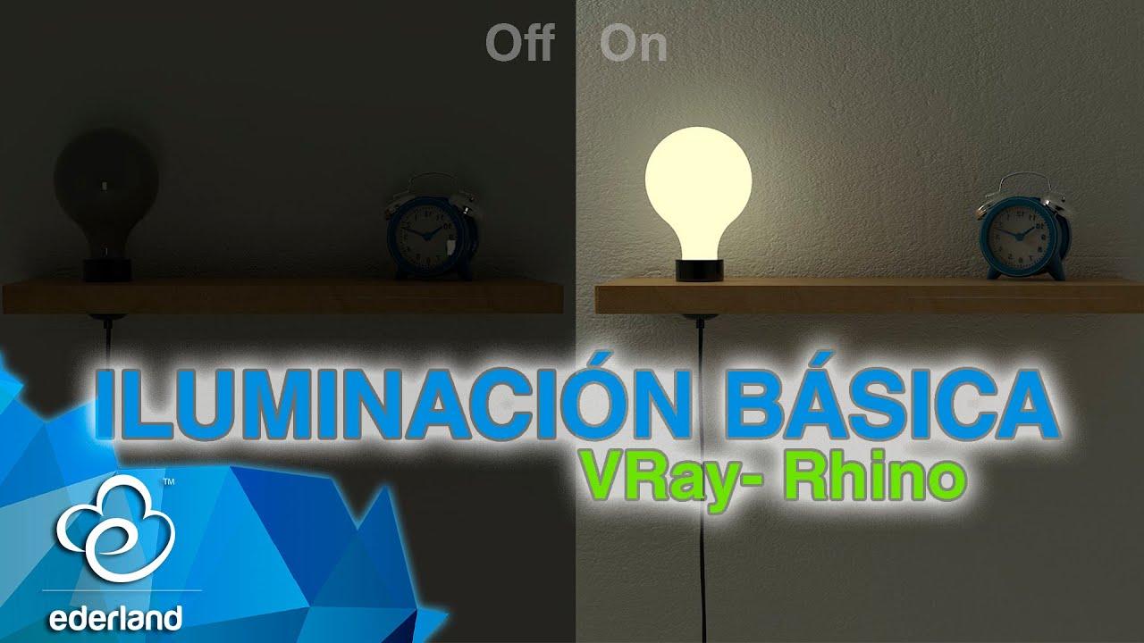 Render bsico en Vray Rhino  Iluminacin  YouTube