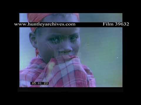 Villagers Working. Rwanda, Africa 1980's.  Archive film 39632