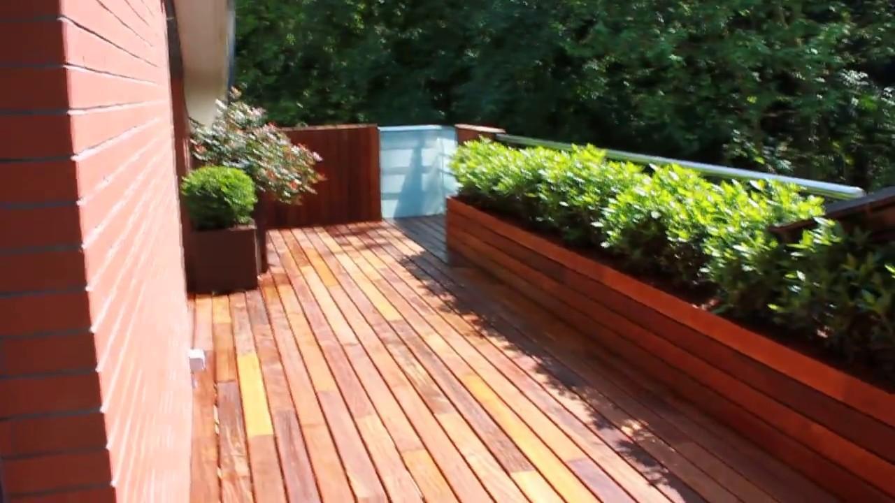 Terraza de dise o jardin de la habitacion verde - Jardines en la terraza ...