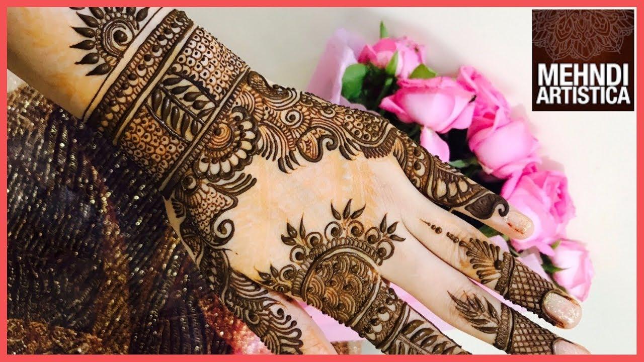 Mehndi Designs Upper Hands : Designer mehndi design for upper side hand floral unique