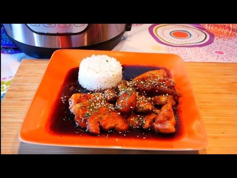 instant-pot-sweet-chicken,-honey,-garlic-and-sesame---poulet-sucré-salé-miel,-ail-et-sésame