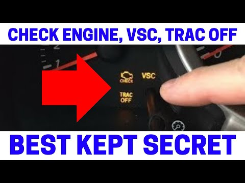 How To Fix Check Engine, VSC, Trac Off Warning Light On (Part 1)