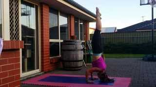 Downward Dog Jump To Crow With Leisa Timms Online Personal Trainer