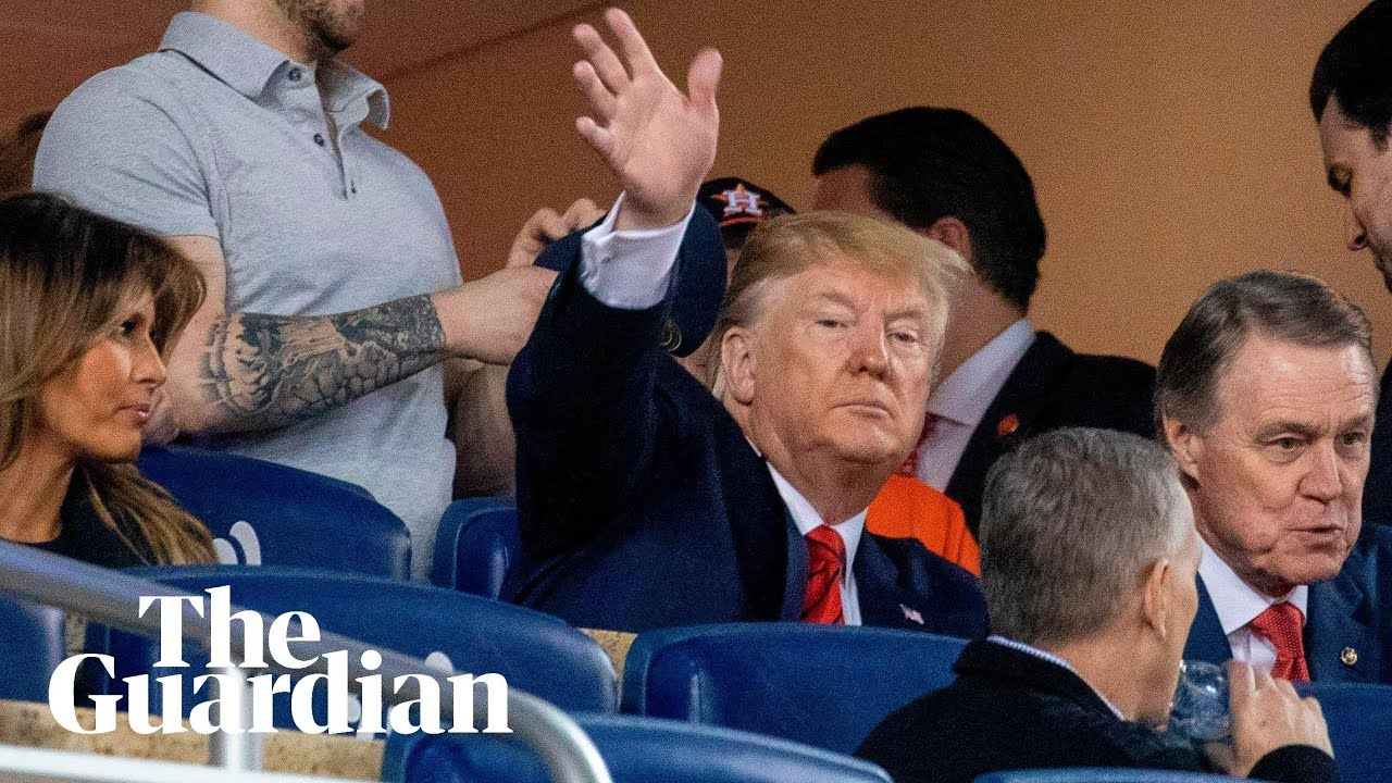 Trump gets booed and lock him up chants at the World Series