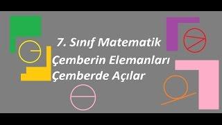 7 Sınıf Matematik Çemberin Elemanları, Açılar