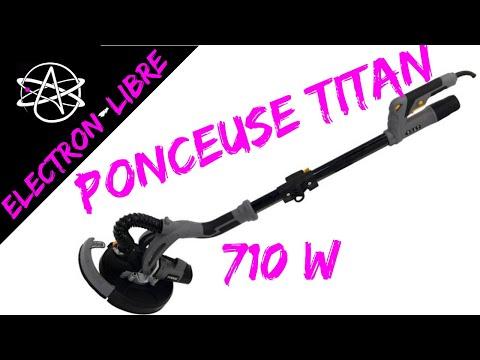 Ponceuse A Plâtre Télescopique Titan 710 W Bricodepot Youtube