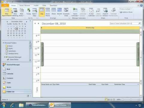 Outlook 2010 Solution Modules