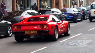 Supercars In London - October Part 1 (Ferrari F40, 918, 288GTO, 2018 Ford GT)
