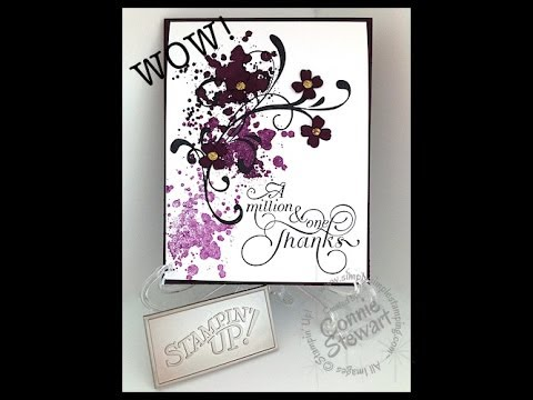 Simply Simple NOW OR WOW - Gorgeous Grunge Thank You by Connie Stewart
