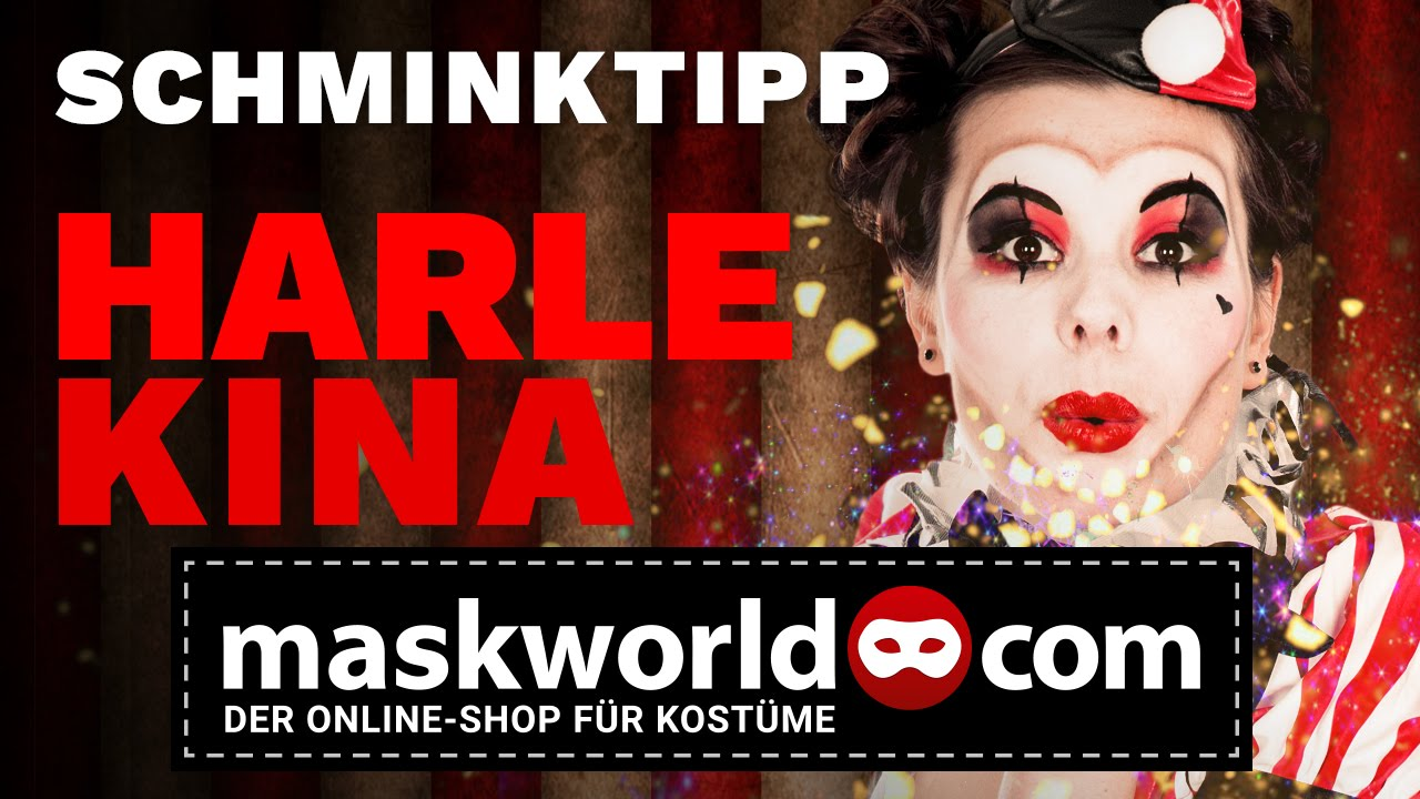 Clown Schminken Leicht Faschings Schminktipp Harlekina Clown Make Up Maskworld