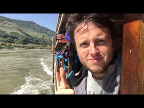 Laos Slow Boat Travel Vlog: Folan Finds Trip Around the World Day 28