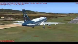 OA 731 Landing in Athens, Greece in FS2004
